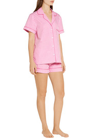 Eloise gingham cotton-poplin pajama set