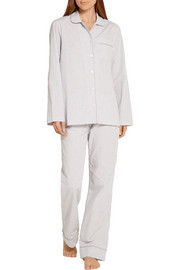 Jamie gingham cotton-poplin pajama set