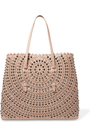 Vienne studded laser-cut leather tote
