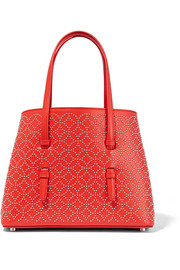 Arabesque mini studded leather tote