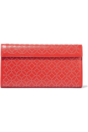Alaïa Arabesque studded leather clutch