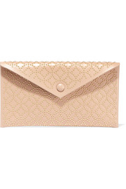 Alaïa Envelope embellished leather clutch