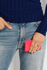 Neon leather cardholder