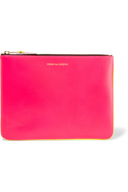 Super Fluo neon leather pouch