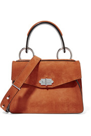 Hava small suede shoulder bag