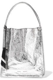 Proenza Schouler Medium metallic textured-leather tote
