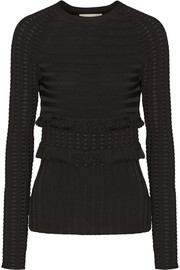 Jason Wu Fringed stretch-knit sweater