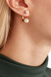 Chloé Darcey gold-tone faux pearl earrings