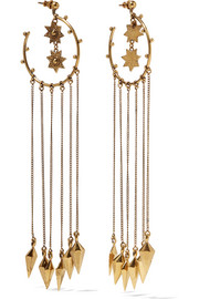 Chloé Layton hammered gold-tone earrings