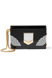 Jimmy Choo Lockett small embellished acrylic clutch
