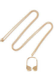 J.W.Anderson Gold-plated necklace