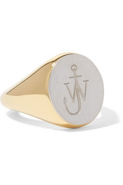 J.W.Anderson Gold-plated and silver-tone ring