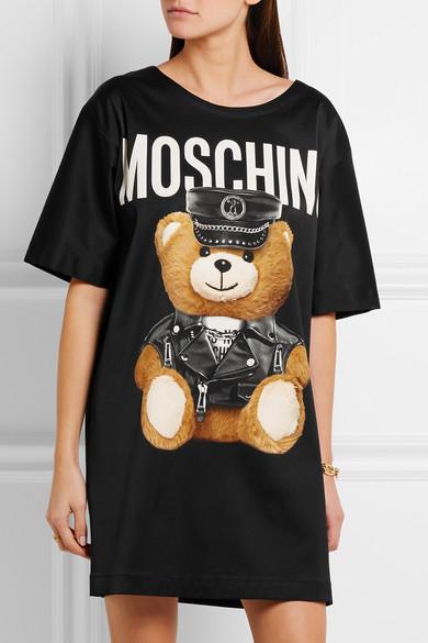 457075ef0e1 Moschino. Oversized printed jersey T-shirt dress