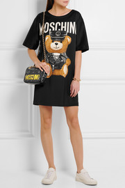 Moschino Oversized printed jersey T-shirt dress