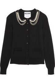 Moschino Embellished wool cardigan