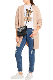 Moschino Distressed mid-rise slim-leg jeans