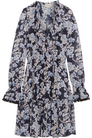 Temperley London Captain floral-print chiffon mini dress