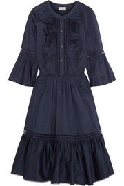 Morganne ruffled cotton mini dress