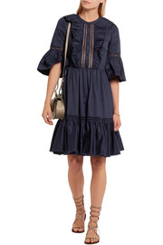 Temperley London Morganne ruffled cotton mini dress