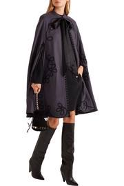 Temperley London Voyage embroidered wool cape