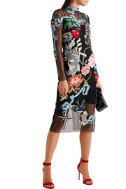 Temperley London Sail embroidered embellished Swiss-dot tulle dress