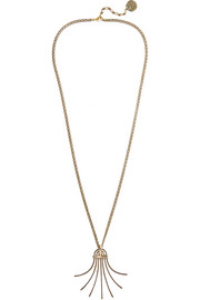 Lanvin Elvira gold-plated necklace