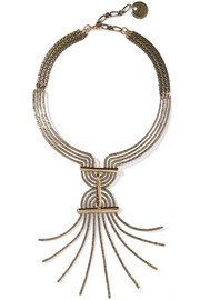 Lanvin Elvira gold-tone necklace