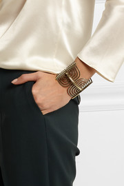 Lanvin Elvira gold-plated cuff