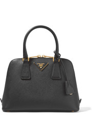 Promenade textured-leather tote