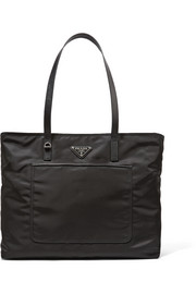 Vela leather-trimmed shell tote