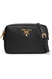 Prada Camera textured-leather shoulder bag