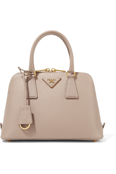 Prada - Promenade Textured-leather Tote - Blush at NET-A-PORTER