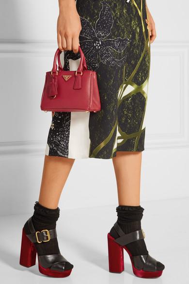 2ad5d7f0bf13a6 Prada | Galleria Baby textured-leather tote | NET-A-PORTER.COM