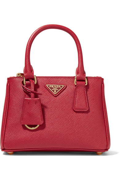 Prada - Galleria Baby Textured-leather Tote at NET-A-PORTER