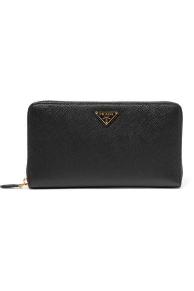 342083096b44 Prada | Travel textured-leather continental wallet | NET-A-PORTER.COM