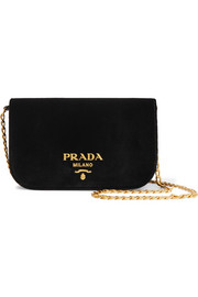 Wallet On A Chain velvet shoulder bag