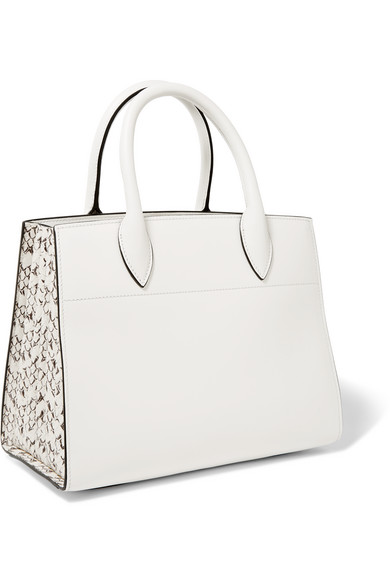 5800cb56c9bf Prada. Bibliothèque watersnake-paneled leather tote