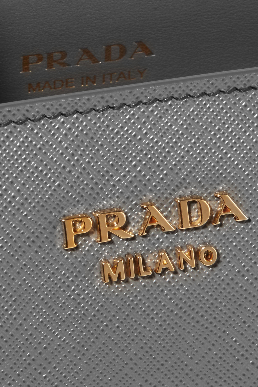 Prada Bibliothèque textured-leather tote
