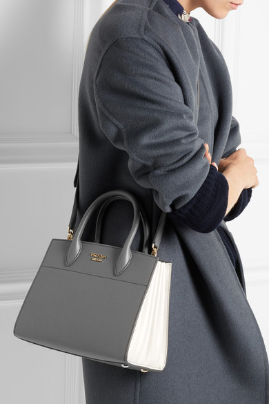 47cdabadfd17 Prada | Bibliothèque textured-leather tote | NET-A-PORTER.COM