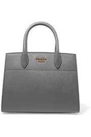 Prada Bibliothèque textured-leather tote