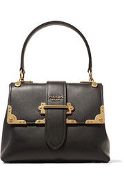 Prada Cahier large leather tote
