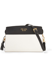 Esplanade small two-tone leather shoulder bag