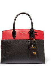 Prada Esplanade large two-tone textured-leather tote