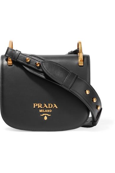 Black Pionniere Leather Cross Body Bag, Emerald