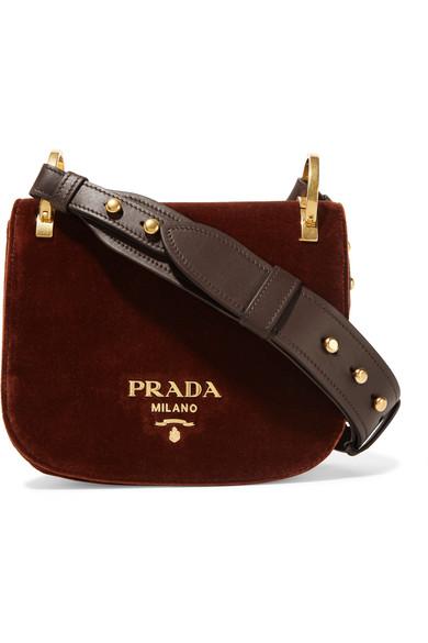 fda6acdb6c54 Prada | Pionnière velvet shoulder bag | NET-A-PORTER.COM