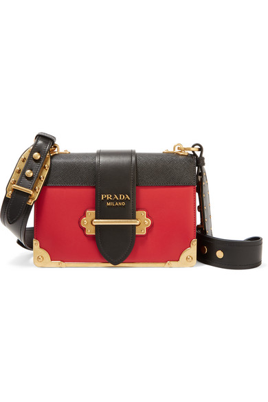 9c2f97fb6c ... promo code for prada cahier two tone leather shoulder bag net a porter  96d88 29701