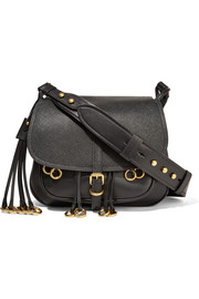 Messenger embellished leather shoulder bag