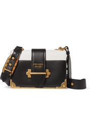 Cahier two-tone leather shoulder bag