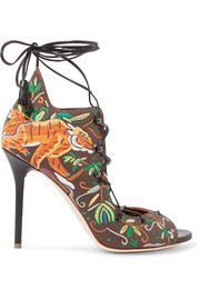 Savannah embroidered canvas sandals