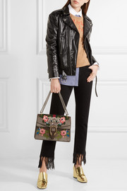 Gucci Dionysus medium appliquéd embellished leather shoulder bag